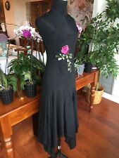 Morgan & Co Women's Black Dress w Rose Small or 7/8 Sexy Evening Prom Party NYE