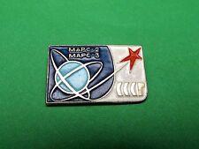 """Mars-2"" ""Mars-3"", Interplanetary Space Stations, Soviet Russian Pin Badge. 1971"