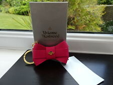 Gorgeous Authentic Vivienne Westwood Anglomania Pink Bow Keyring / Bag Charm