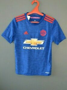 Manchester United 2016/17 Away Football Soccer Jersey Mens Blue Shirt Youth M
