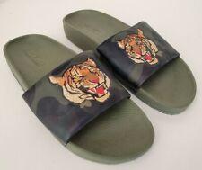 "Polo Ralph Lauren ""Polo Tiger"" Camo/Olive Green Cayson Slide Sandals Sz 14/14D"