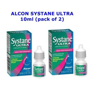 Alcon Eye Drops Systane Ultra Lubricant High Performance 10ml Pack 2 Exp. 2023