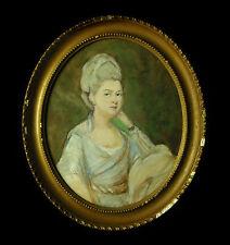 D'après Rosalba Carriera 1675-1757 Dans le goût du XVIIIe Portrait de femme