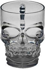 Clear Skull Mug - Skull Drinkware Glasses - Gothic Skull Mug - 16 oz Plastic Mug