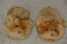 Children's Bear Slippers ~ Babw 2005 ~ Size M/10-11 ~ Butterscotch Scuff Style