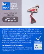 RSPB Pin Badge | greater flamingo international species (00950)