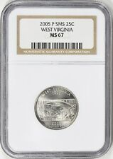 2005-P SMS WEST VIRGINIA STATE QUARTER 25c NGC MS67