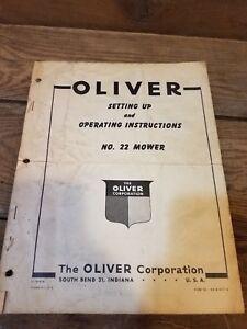 Oliver no. 22 mower Setting Up & Operating Instructions Manual Book Original