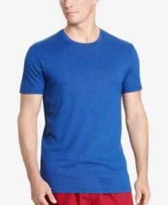 Polo Ralph Lauren Men's SS Blue Crewneck Pajama Shirt, S, ZR-L