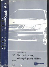 M1998 SAAB 9-5 AUTOMOBILE  ELECTRICAL SYSTEM WIRING DIAGRAM / SERVICE MANUAL