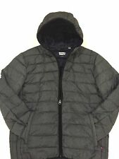 LEVIS MENS HOODED PUFFER JACKET W/ULTRA LOFT TECHNOLOGY NWT180 CHARCOAL LARGE