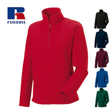 RUSSELL FLEECE JACKET COLLAR ZIP WARM CASUAL OUTDOOR WORK MEN'S XS-2XL COLOURS