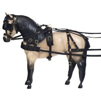Tough-1 Deluxe Nylon Driving Harness with Bridle - Miniature Black
