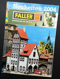 """Faller Prospekt """"Neuheiten 2004"""", DIN A4, 44 Seiten, Neu!"""