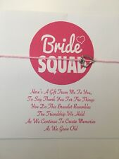Bride Squad Friendship Bracelet Favour Gift # Tram Bride Hen Party