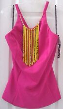 NEW TAG! MACY'S XOXO XL 13/14 PINK w/ DANGLING BEADS HEAVIER KNIT TANK TOP SHIRT