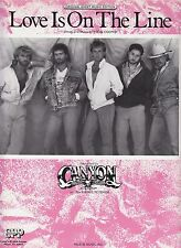 Love Is On The Line - Canyon - 1987 Sheet Music