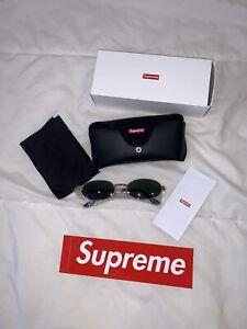 Supreme Gold Logo Brooks Sunglasses