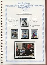 Falkland Islands 1985 Queen Mother MNH Set + M/S On Page #V420