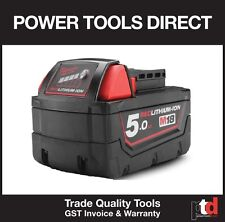 NEW MILWAUKEE M18 5.0 BATTERY 18V CORDLESS M18B5 5AMP BATTERY - GEN AUST STOCK