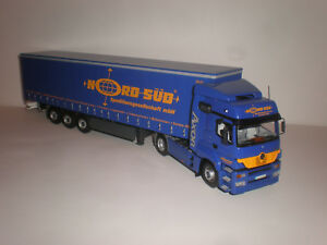 """1/43 Truck Mercedes Benz Axor with trailer """"Nord-Sud Spedition""""  Minichamps"""