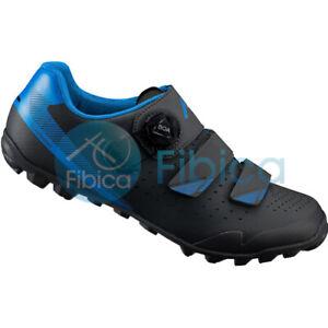 New 2020 Shimano SH ME400 MTB TRAIL Off-Road Cycling Shoes Blue Black EU42-45