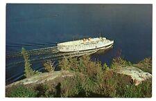 Canada Steamship Lines Saguenay Cruise Ship passing CAPE TRINITY Quebec Canada