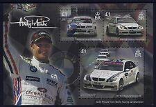 2008 GUERNSEY ANDY PRIAULX WORLD TOURING CAR CHAMPION MINISHEET FINE MINT MNH