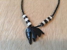 African-Arena Handmade Maasai Cow Bone Horn Mud Polished Pendant Necklace AA142