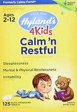 2 Pack Hyland's 4 Kids Calm'n Restful 125 Tablet Homeopathic Sleep Aid for Kids