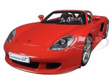 PORSCHE CARRERA GT RED 1:18 DIECAST MODEL CAR BY AUTOART 78044