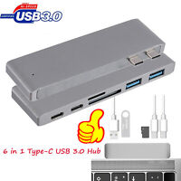 6in1 Type C USB C Hub Adapter Dual USB 3.0 Ports Card Reader For MacBook Pro US
