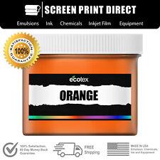 Ecotex Orange Premium Plastisol Ink For Screen Printing 1 Pt 16oz
