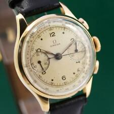 1944's OMEGA CAL.33.3 18K SOLID GOLD CHRONOGRAPH MANUAL WIND MEN'S WATCH