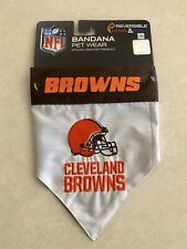 Cleveland Browns Reversible Pet Bandana - L/Xl Pets First Dog New