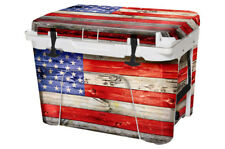 Thickest Wrap 24mil Skin Full for YETI Roadie 20qt Cooler USA Flag WD Color