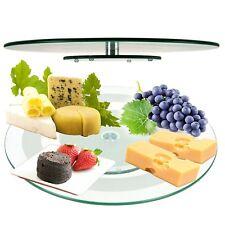 45cm Cristal bandeja giratoria soporte para servir queso Templado Plato