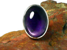 AMETHYST   Sterling  Silver  925  Gemstone  RING   -  Size  J   -  Gift Boxed!