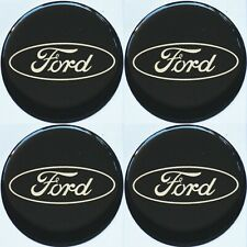 Ford Emblem SCHWARZ Felgen Aufkleber Logo Nabendeckel Nabenkappen Embleme 4x56mm