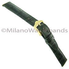 14mm Hirsch Duke Alligator Grain Genuine Leather Ladies Emerald Green Watch Band