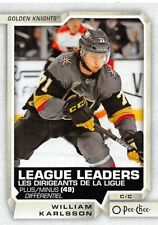 18/19 O-PEE-CHEE OPC LEAGUE LEADERS #593 WILLIAM KARLSSON GOLDEN KNIGHTS *55320