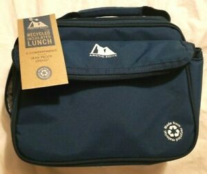 Arctic Zone Recycled Dual Compartment Lunch Box - Midnight Blue - Free Shipping