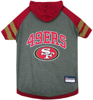 San Francisco 49ers NFL Pets First Sporty Dog Pet Hoodie Tee Shirt Sizes XS-L