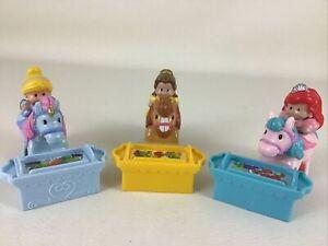 Disney Princess Little People Klip Klop Horses 6pc Lot Belle Cinderella Ariel