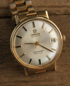 Vintage Omega Seamaster De Ville Automatic Wrist Watch Gold Finish 1951