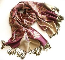 Elegant mix Color Pashmina Wool Cashmere Scarf Shawl Unisex