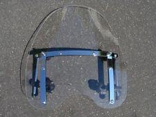 "Large 19""x17"" Clear Windshield For Yamaha Cruiser Motorcycle 7/8 & 1"" Handlebars"