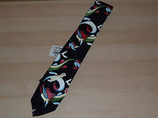 Authentic Ed Hardy Christian Audigier Black Dragon Serpent Silk Mens Neck Ties