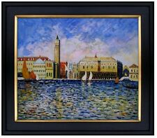 Framed, Renoir The Doges Palace, Venice Repro, Hand Painted Oil Painting 20x24in