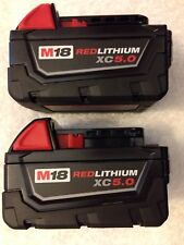 2 New Milwaukee 48-11-1850 Batteries M18 18V 18 Volt XC 5.0 Ah Red Lithium Ion